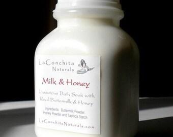 Colloidal Oatmeal, Milk & Honey Luxurious Bath Soak with Skin Softening Real Milk - Gentle for Dry, Irritated, Sensitive Skin - Sample Size