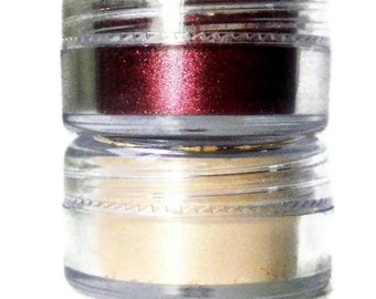 Pure Mineral EyeShadow - Vegan, No Preservatives - SET OF TWO 5 Gram Jars - Choose Your Shades - On Sale