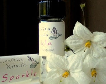 Gift Ready Natural Perfume - Sparkle - with Ylang Ylang, Citrus, Jasmine - 3mL Glass Vial in Eco Gift Box