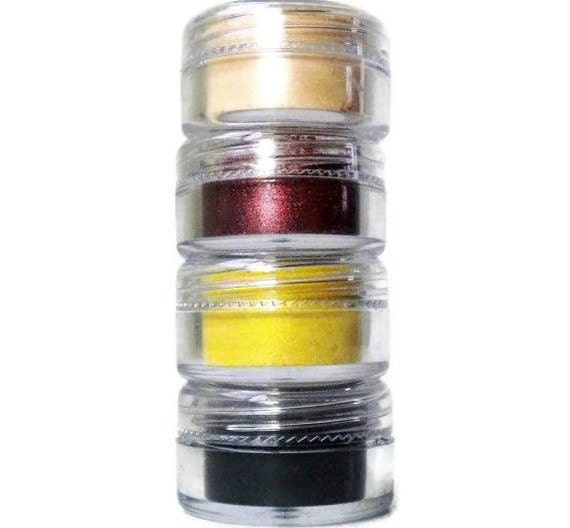 Mineral EyeShadow - Natural Vegan Pigment, No Preservatives- SET OF FOUR - Choose Your Shades - On Sale