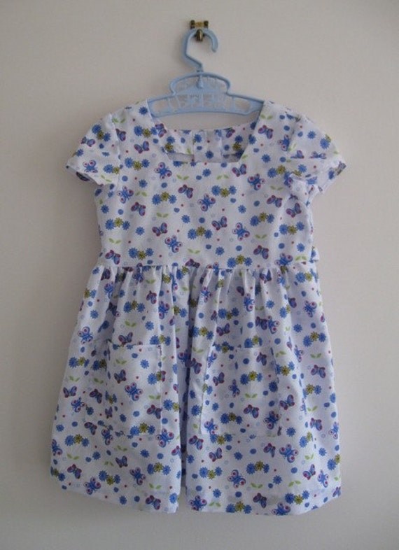 Butterfly summer dress to suit a 3 year old