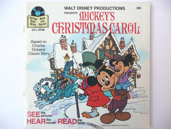 Vintage Mickey's Christmas Carol...Hear the Record, Read the Book