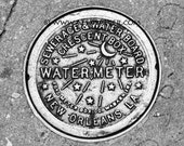 Photograph Print - NOLA Water Meter, New Orleans - mardi gras french quarter big easy watermeter