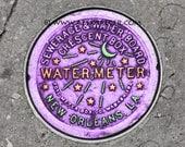 DIGITAL DOWNLOAD - NOLA Water Meter,  New Orleans - mardi gras french quarter big easy watermeter purple green yellow
