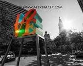 Fine Art Photography Print - LOVE Park and City Hall - Philadelphia  - www.alexbalcer.com