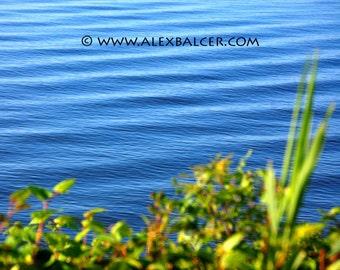 Photograph Print - Blue Rolling Waves, Ocean City NJ - ocnj ocean surf beach waves sand storm summer blue green sea bay