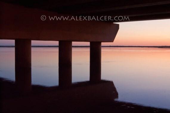Muted Pier Sunset Reflection - Fine Art Photography Print, Ocean City NJ, www.alexbalcer.com