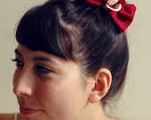 rose bow barrette