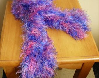 Knit Scarf Fuzzy Slit Vegan