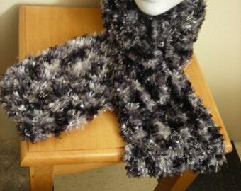 Knit Fuzzy Scarf Vegan