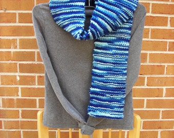 Knit Scarf Garter Ridge Vegan