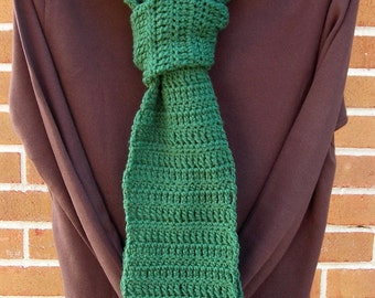 Crochet Scarf with Tassels Vegan