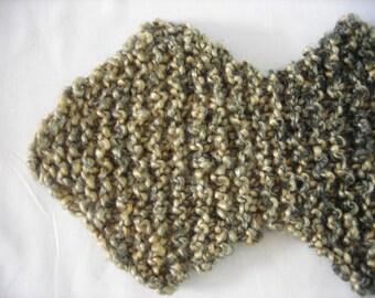 Knit Scarf Vegan Zig Zag Style