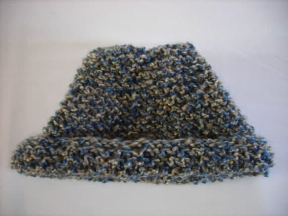Knit Hat Tear-Drop Shape Vegan Sand and Sea Themed
