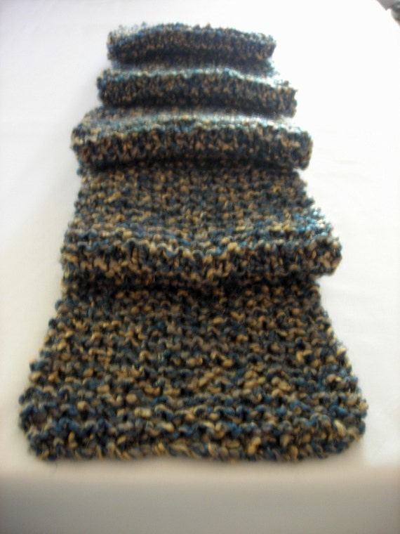 Knit Scarf Vegan Sand and Sea Themed