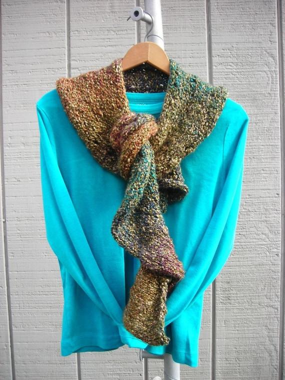 Knitting Pattern For Spiral Scarf : Knit Spiral Staircase Scarf Vegan