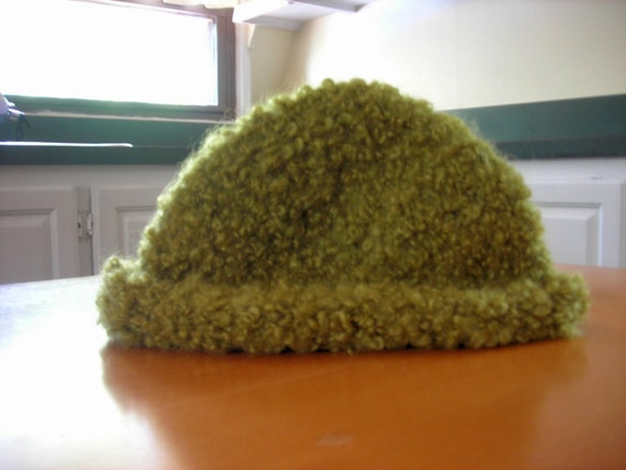 Chartreuse Mohair-Blend Boucle Hat