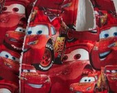 Red Lightning McQueen Cars Bib & Burp Cloth Set  Reversible and READY TO SHIP