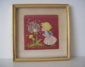 Vintage HAND CUT Paper Art Layered 3-D Collage Framed 1930s Ephemera