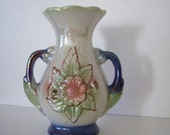 Small Luster Urn Vase - Floral Relief - Made in Brazil
