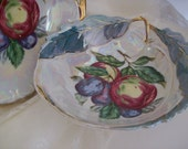 1920s Japanese Lusterware Fruit Shaped Porcelain Bowl Japan