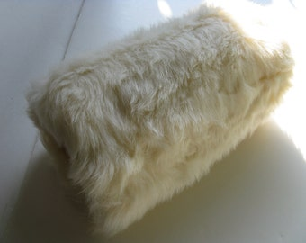 Ivory Faux Fur Muff
