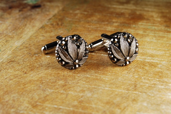 Steampunk Cufflinks // 1890s Glass Button Antique Cuff Links by Steampunk Vintage Design