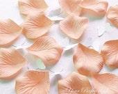 1000 Pieces Peach Pink Silk Rose Petals Wedding Flower Facor Decoration RP021