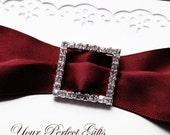 Rhinestone Buckles Wholesale Buckles Crystal Sliders Silver Wedding Invitation Wedding Supplies Napkin Ring BK022 Square Buckle