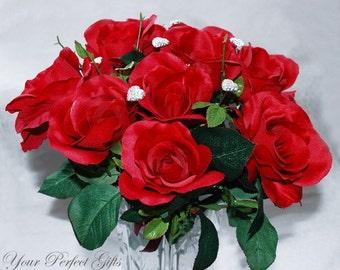 SALE 6 pcs Crystal Rhinestone Heart Brooch Bouquet Jewelry Centerpiece Flower Stem BJ002