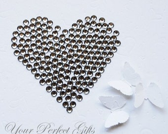1000 pcs Acrylic Round Faceted Flat Back Rhinestone 4mm Bling Black Diamond/Gray FREE Shipping USA Scrapbooking Nail Art LR066