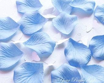 1000 Pieces Baby Light Pastel Blue Silk Rose Petals Wedding Flower Facor Decoration RP020