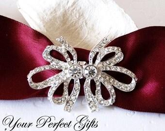Rhinestone buckle Crystal Slider Closure Clasp Button Bridal Brooch Bouquet Wedding Invitation Cake Decoration Sash Belt BK091