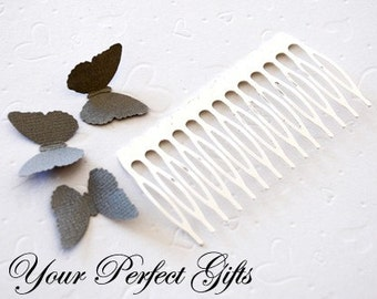 10 pcs 3 inch (76mm) Silver Plated Metal Hair Combs 14 Teeth for Wedding Bridal Flower Tiara Jewelry Craft Supplies AC006