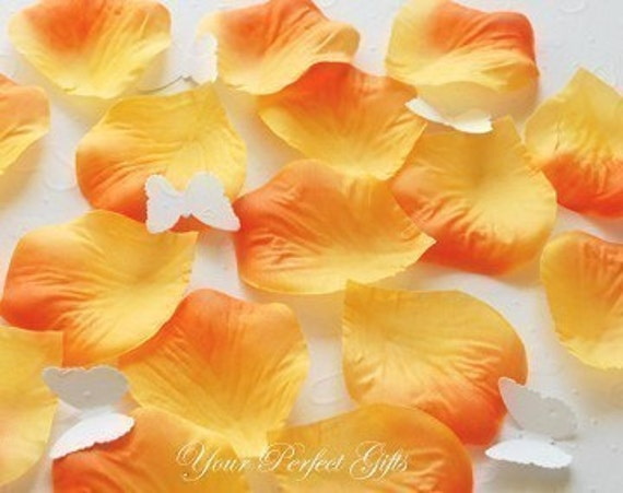 1000 pcs Orange Silk Rose Petals Wedding Flower Favor Decoration RP022