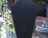 Black Velvet Double Necklace Display Easel Stand