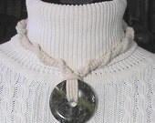 Indigo Signature Design - Agate Donut Hemp Necklace Choker