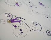 Journaling Spot Set - 7 Piece Purple Rounds