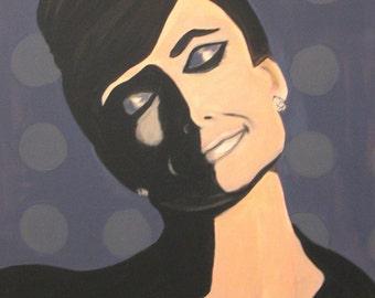 Audrey- CONTEMPORARY ORIGINAL PAINTING of Audrey Hepburn Print
