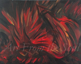 2 A.M. Thoughts- ABSTRACT ORIGINAL 16x20 Acrylic Painting Professional Reproduction Print. Different Sizes Available.