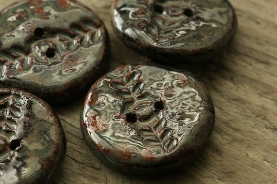Ceramic buttons, set of 2