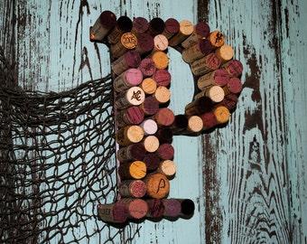 Re-purposed wine cork letters...