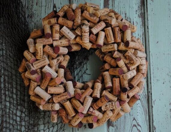 Wine Cork Wreath - Can Be Custom Ordered