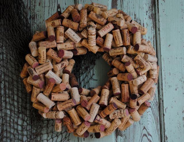 Wine Cork Wreath Can Be Custom Ordered