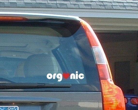 Heart Organic - Car Laptop Bumper Sticker Vinyl Decal