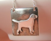 Custom Silver Labrador Retreiver Necklace (Any Breed Available)