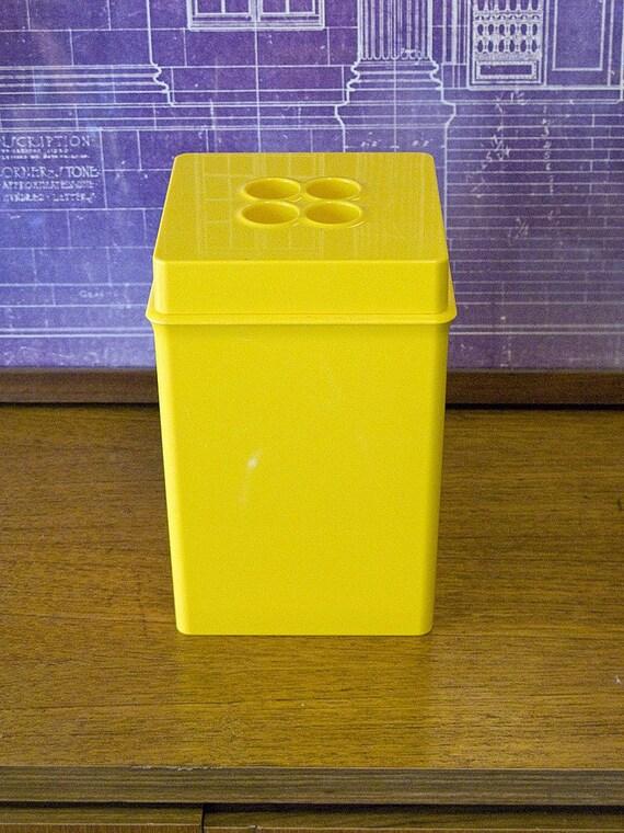 Dansk Yellow Plastic Canister