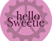 Doctor Who River Song Hello Sweetie Button