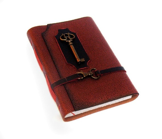 FREE SHIPPING TODAY - Secret Key - Genuine Leather Journal with thick blank paper