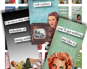 1x2 Domino Collage Sheets Retro Brazen Broads Quotes Scrabble Tile Digital Collage Sheet Printable Images Dominos Words Sayings